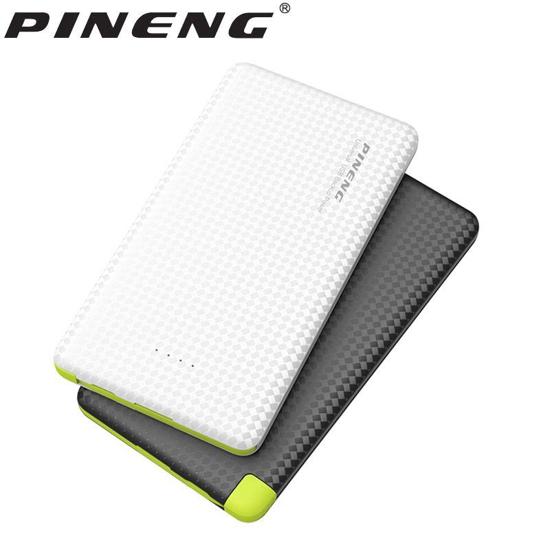 D'origine PINENG Smart Power Banque 5000 mAh Powerbank Batterie Externe Portable De Sauvegarde Pratique Fixe Avec Câble Poverbanks