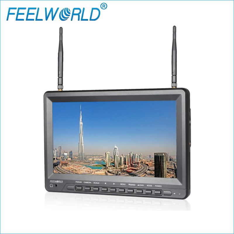 Feelworld FPV1032 10.1 Inch IPS FPV Monitor with Built-in Battery Dual 5.8G 32CH Diversity Receiver 1024x600 Wireless Monitors