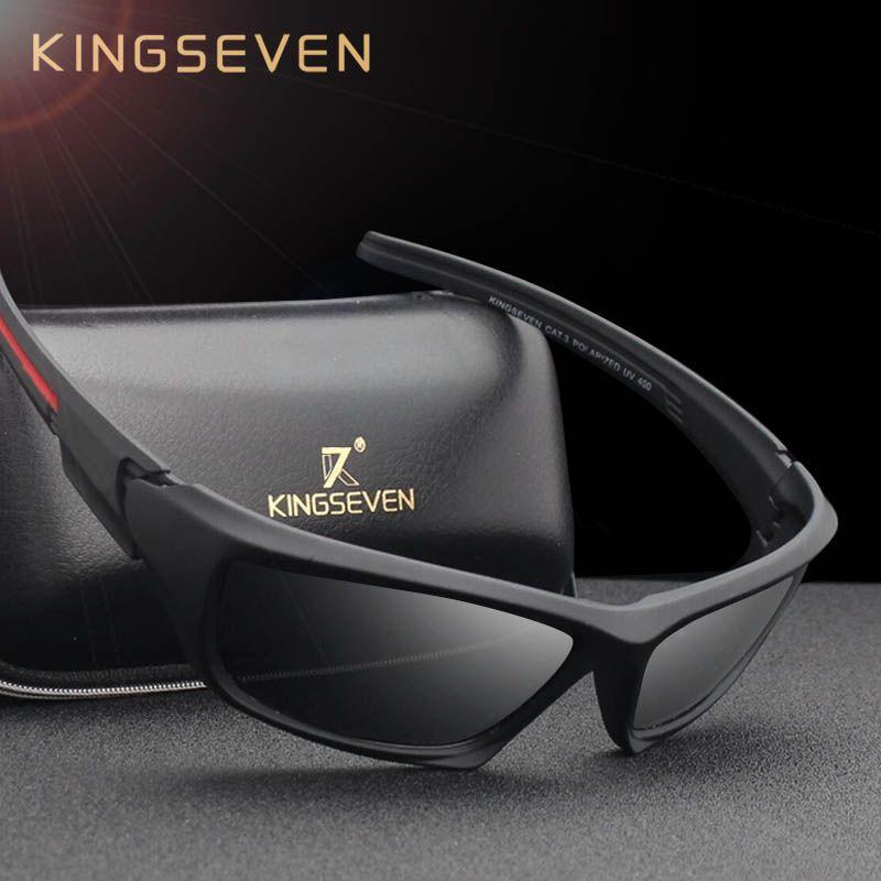 KINGSEVEN Mode Polarisées lunettes de Soleil Hommes Marque De Luxe Designer Vintage Conduite lunettes de soleil Mâle Lunettes Ombre UV400