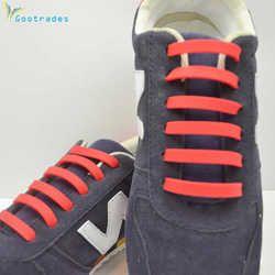 12pcs /Pair Fashion Unisex Athletic Running No Tie Shoelaces Women Men Elastic Silicone Shoe Lace All Sneakers Fit Strap