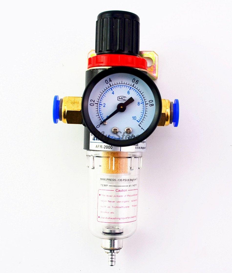 AFR2000 régulateur de pression d'air séparateur d'eau piège filtre aérographe compresseur avec raccords