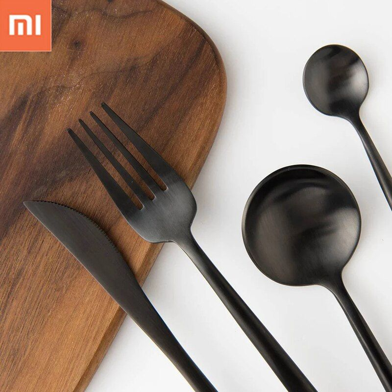 New Xiaomi Ecological Chain Maision Maxx Stainless Steel Table ware 4 Kit Knife Spoon Fork Tea-spoon For Smart Home Use 3 Colors