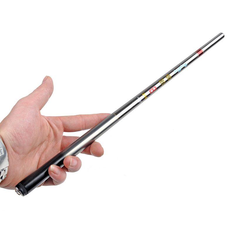 LIDAFISH1.8M-5.4M En Fiber De Carbone Portable Télescopique Canne À Pêche Ultra-Léger Mini Pôle Voyage De Pêche S'attaquer Flux Rivière Mer Tige