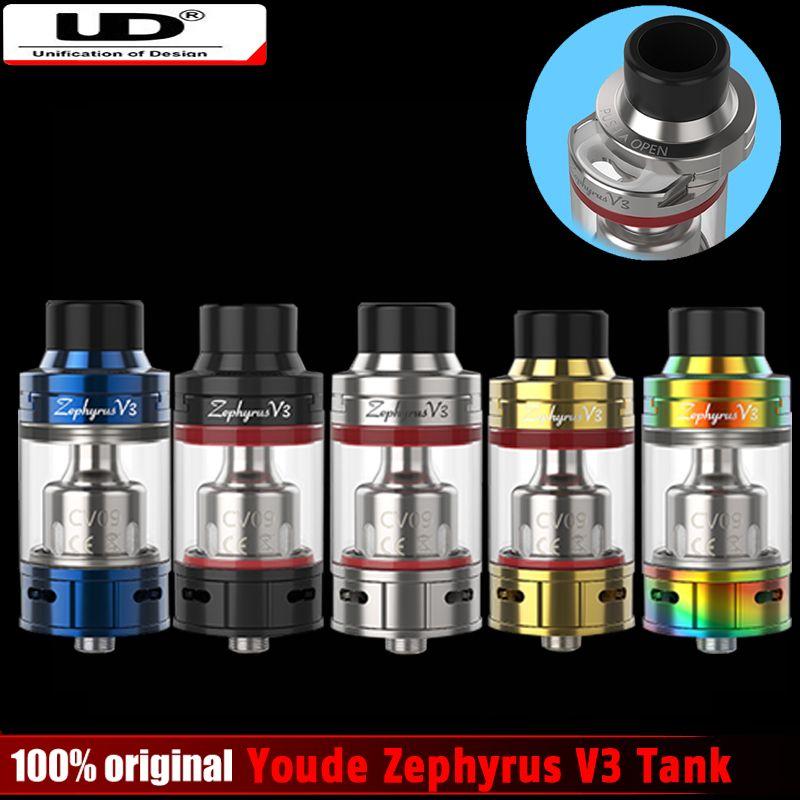 Original Ud youde Zephyrus V3 tanque con bobina OCC o DIY RBA bobina electrónica cigarrillo vape atomizador vs smok TFV8 tanque del bebé