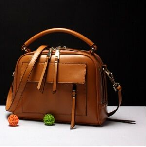 Moda más nuevo diseño cuero genuino mujeres populares bolso de la vendimia Bolso pequeño femenino simple del mensajero H-8587DF
