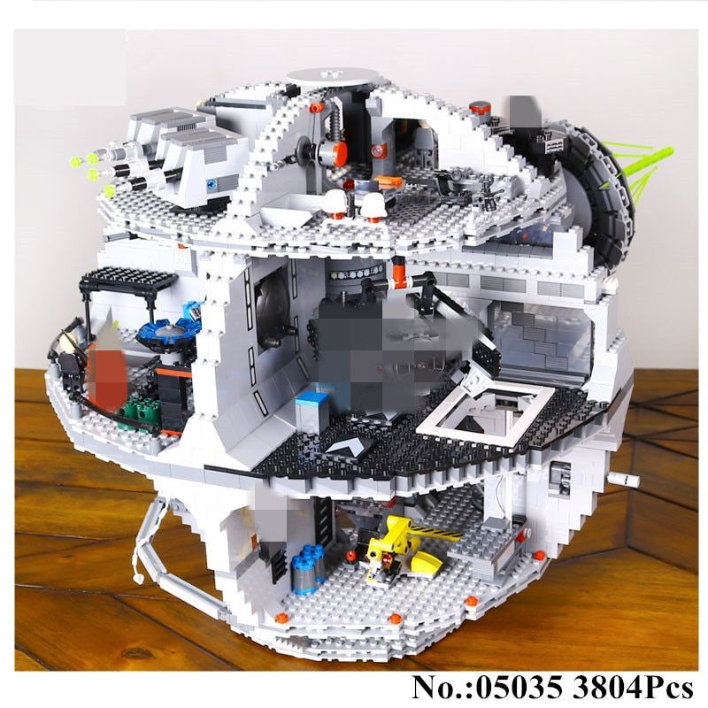 IN STOCK H&HXY 3803pcs 05035 Death Star Building War Block Bricks Toys Kits Compatible 10188 Educational <font><b>Gift</b></font> for Children lepin