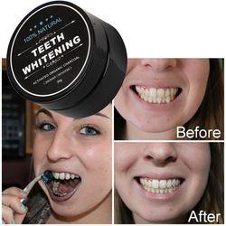Dents Blanchissant Poudre 30g Échelle Poudre Hygiène Bucco-dentaire Des Dents de Charbon De Bambou Brosse De Nettoyage Soins Dentaires