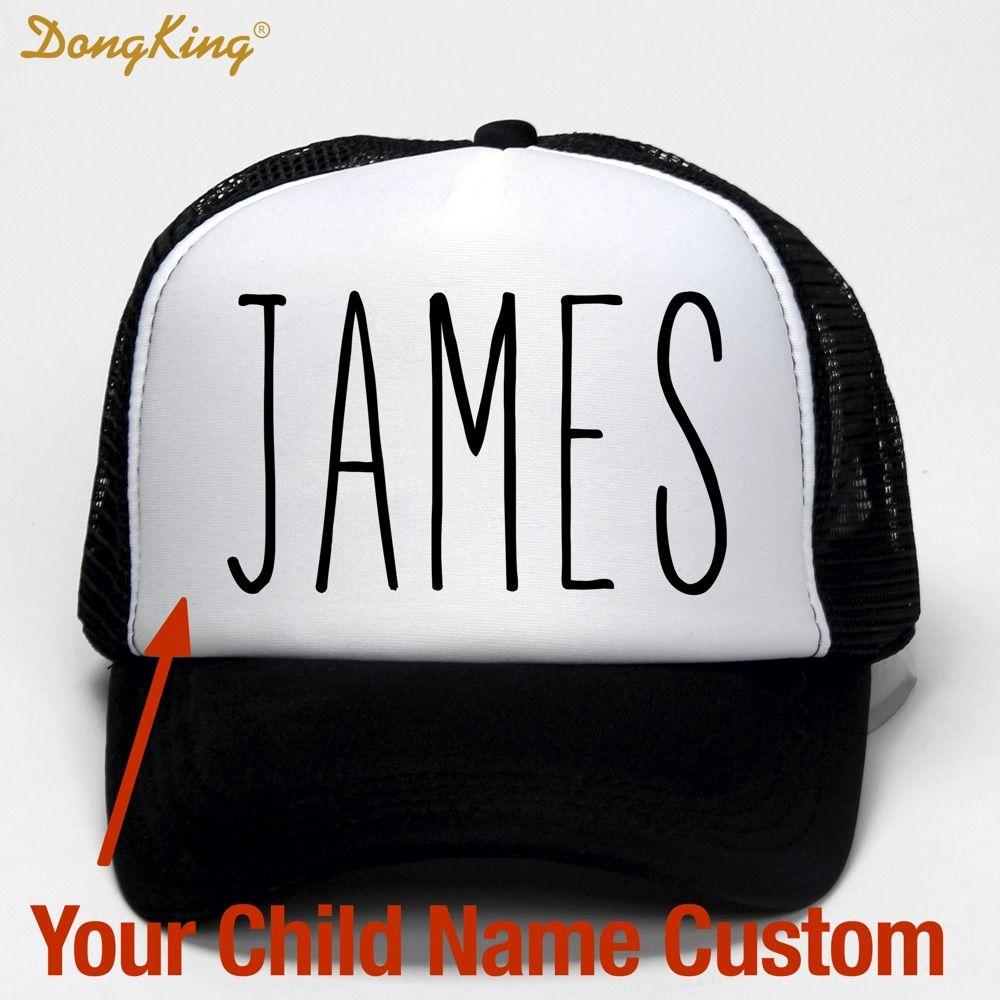 Dongking дети ребенок имя пользовательские дружище hat печатных имя ребенка для сына и дочки собственных Кепки мет Бейсбол Кепки подарок