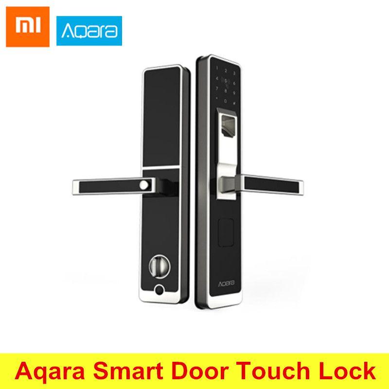 Original Xiaomi Aqara Intelligente Touch Schloss ZigBee Verbindung Für Home Security Anti-Peeping Design Unterstützung IOS Android