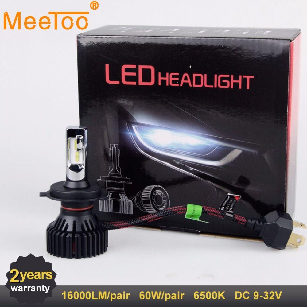 H7 LED H4 LED Car Lights H11 LED Auto Lamps HB4 HB3 12V 24V 16000LM 60W 9006 9005 9007 9004 Headlights for Car Light Bulbs LEDs