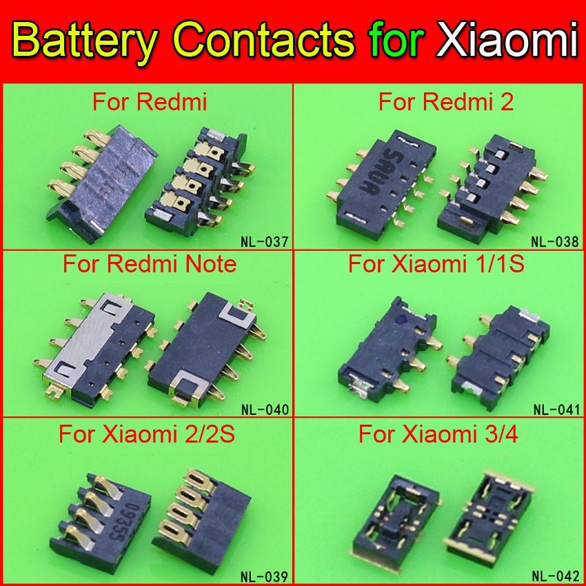 En gros Intérieure FPC Connecteur Batterie Titulaire Clip Contacter pour Xiaomi Redmi Note Mi2 MI 2 M2 M2 M2S 3 4 Mi3 Mi4 M3 M4