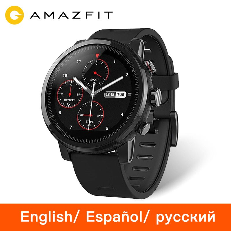 Huami Amazfit Stratos Pace 2 Smartwatch Smart Watch Bluetooth GPS Ceramic Verge Heart Monitor 11 Kind Sport Mode 50M Waterproof