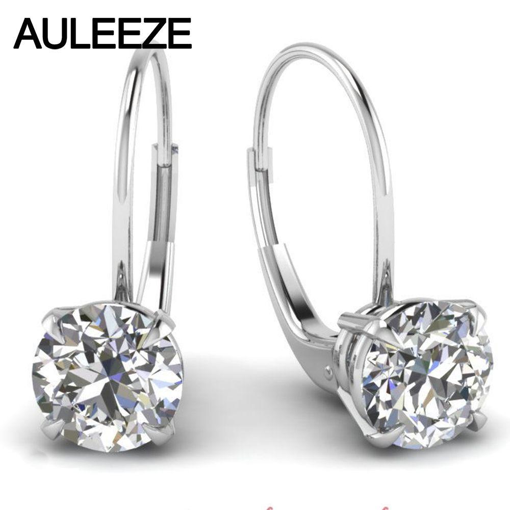 Vintage Scroll Leverback Earrings 18K Gold Total 2CTTW Moissanites Lab Grown Diamond Ethereal Hoop Earrings Fine Jewelry