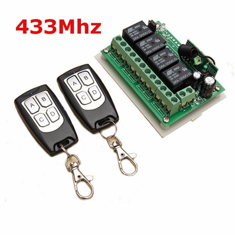 LEORY Universal Wireless Remote Control 12V 4CH Channel <font><b>433Mhz</b></font> Switch Integrated Circuit 2 Transmitter DIY Replace Part Tool