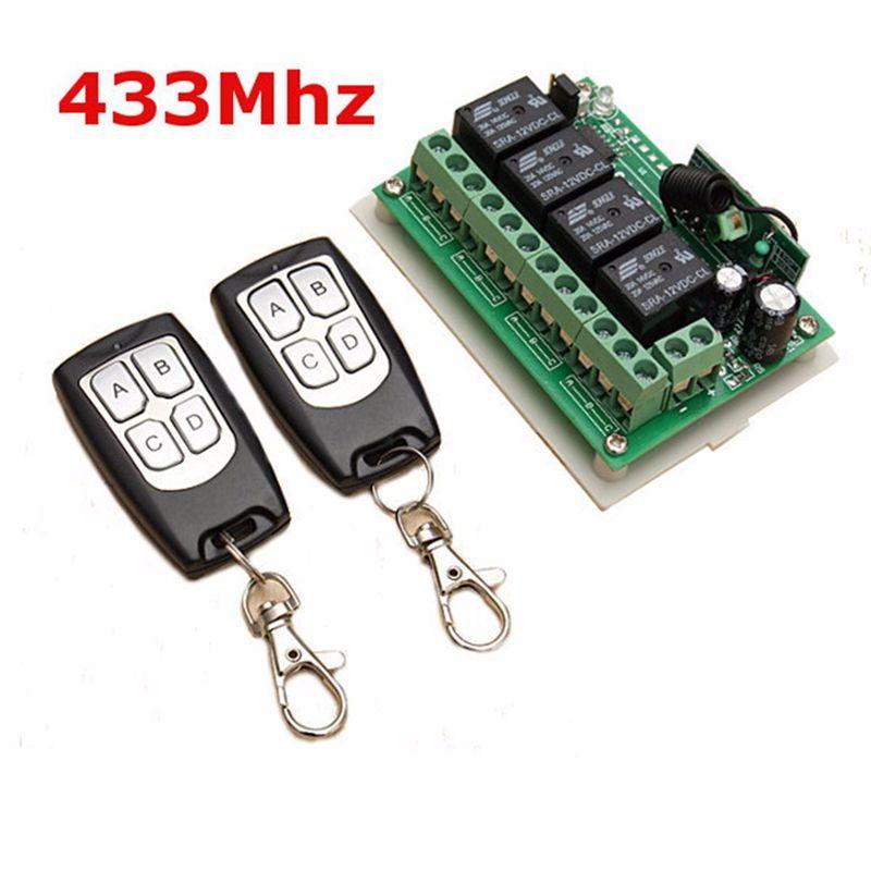 LEORY Universel Sans Fil Télécommande 12 V 4CH Canal 433 Mhz Commutateur Circuit Intégré 2 Émetteur DIY Remplacer Partie Outil