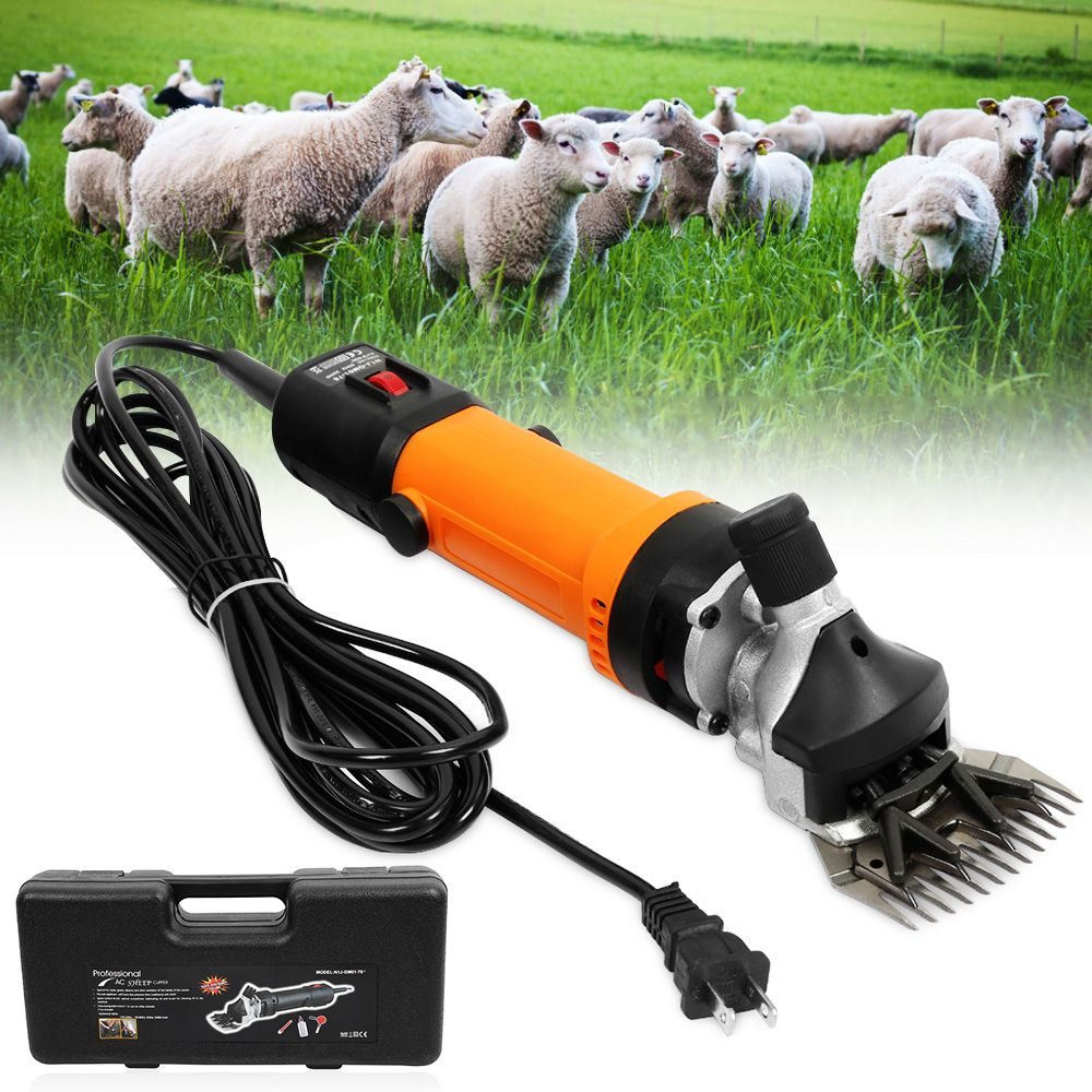 Free shipping Electric Sheep Shearing Clipper Scissors Shears Cutter Goat Clipper Machines 9 teeth/13 teeth blade EU220v/US 110V