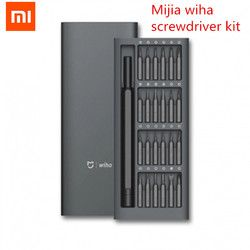 Original Xiaomi Mijia Wiha Daily Use Screw Kit 24 Precision Magnetic Bits Alluminum Box Screw Driver xiaomi smart home Kit