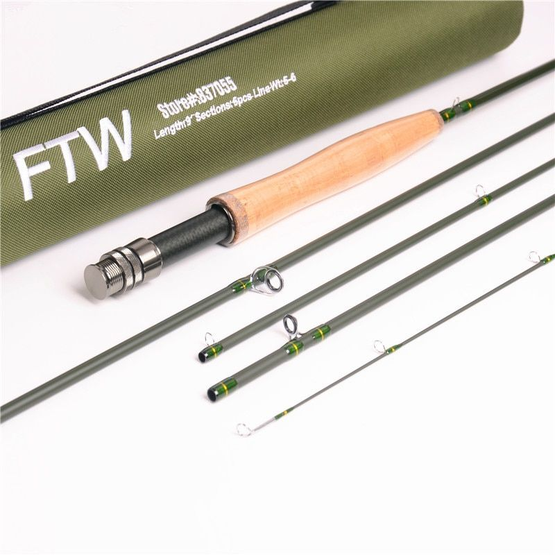 New high carbon fly rod 2.7 m line wt 5/6# medium fast fly fishing rod 5section fishing rod carp rod