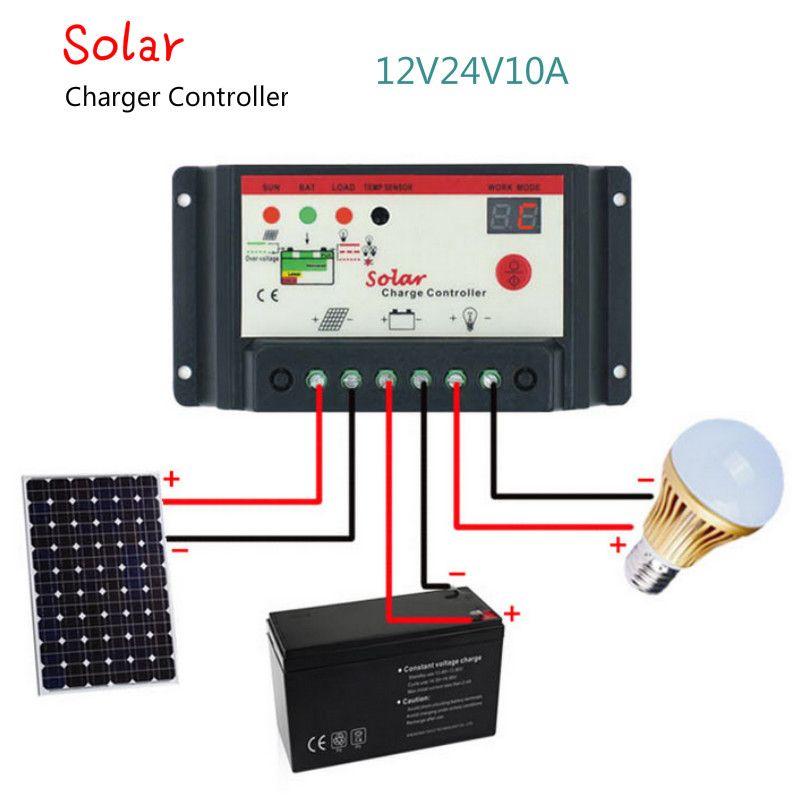 AIYIMA contrôleur de Charge solaire 12 V 24 V 10A 20A 30A régulateur de Charge de panneau solaire Type de commutation contrôleur de lampadaire