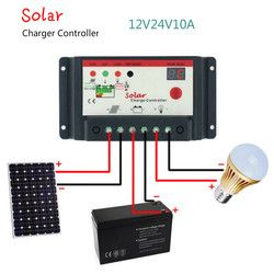 Aoshike Solar Charge Controller 12V 24V 10A 20A 30A Solar Panel Charge Regulator Switching Type Street Lamp Controller