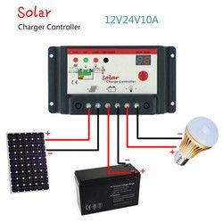 Aoshike carga Solar 12 V 24 V 10A 20A 30A carga del Panel Solar regulador de conmutación tipo lámpara de la calle