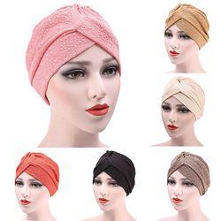 Musulman Turban Cap Hijab Chapeaux de Chapeau Arabe Souple Baggy Beanie Chapeau D'or Coth Coton Head Wrap