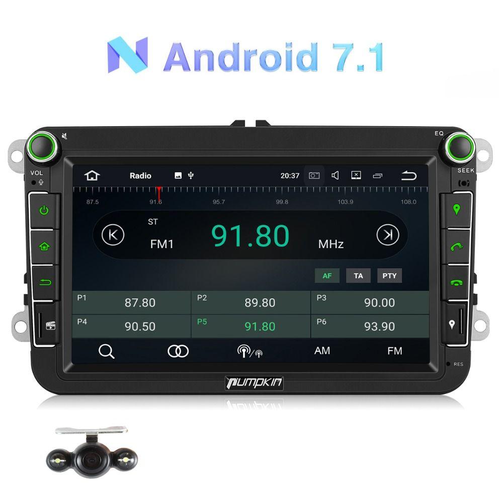 Kürbis 2 Din 8''Android 7,1 Auto Radio Keine DVD-Player GPS Navigation Quad-Core 2G RAM 16G ROM Auto Stereo Für VW/Skoda/Seat/Golf