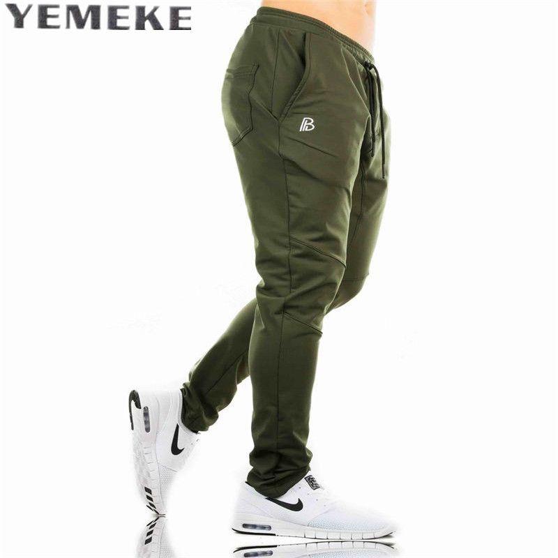 YEMEKE Pantalon Casual pantalons de Survêtement Solide De Mode high street Pantalons Pantalons Hommes Joggers tendance marque haute qualité plaid pantalon