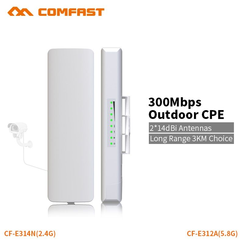 COMFAST 300mbps router bridge wifi router outdoor CPE wireless repeater outdoor wifi repeater for long range IP camera project