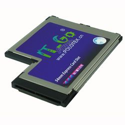 Express Card ExpressCard 54 54mm untuk 2x eSata hard disk Adapter