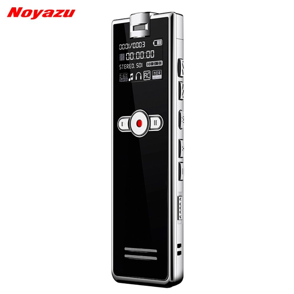 Noyazu F2 Fast Charging 8GB Stereo Recording Digital Audio Voice Recorder Noise Reduction Professional Dictaphone Mp3 Player