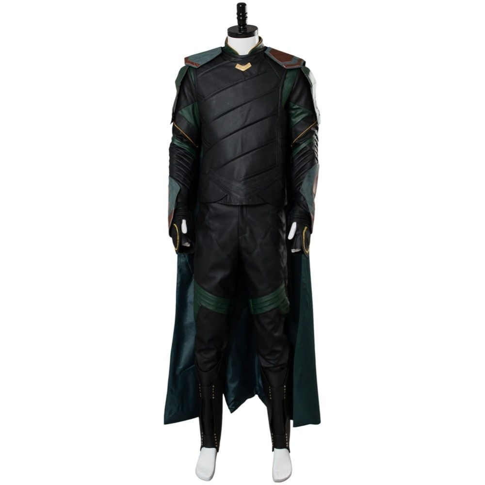 Hot Movie Thor 3 Ragnarok Loki Cosplay Costume Outfit Adult Men Loki Costume Full Sets Custom Made Any Size Halloween Carnival