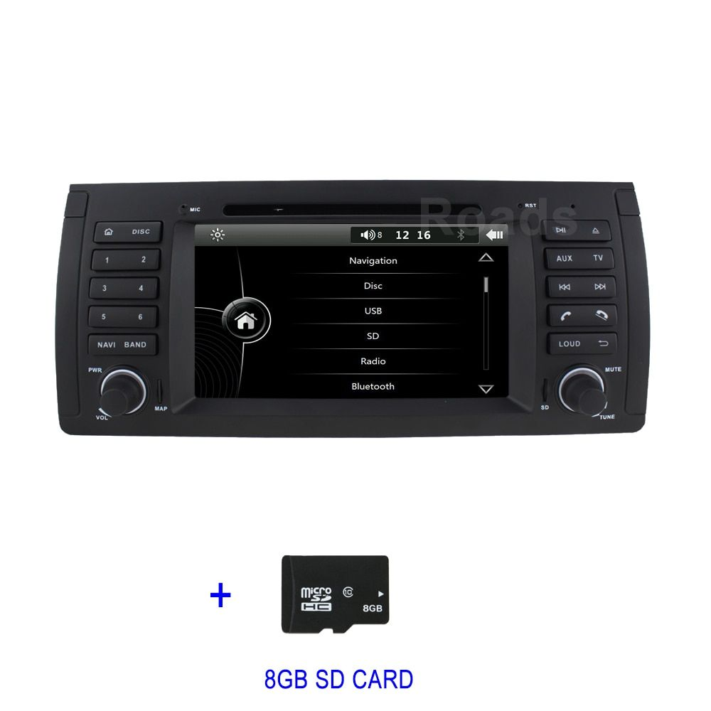 Car DVD Multimedia Radio Player for BMW E39 E53 M5 with BT GPS Navigation