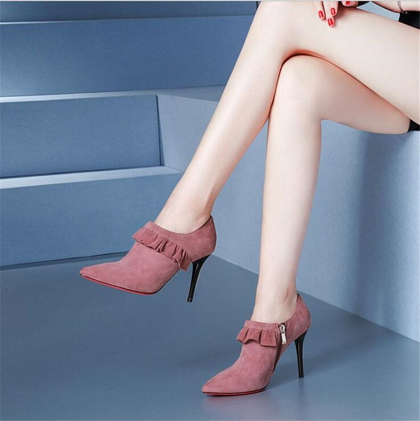 ZOUDKY high heel Tip Single boots sexy buckle platform fashion