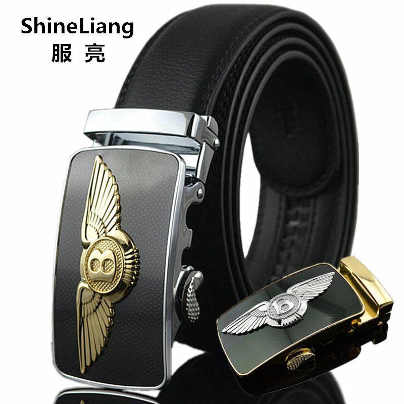 Ceinture automatique pour hommes mode affaires style or argent boucle sans intercalaire cuir corps Designers haute qualité homme ceinture