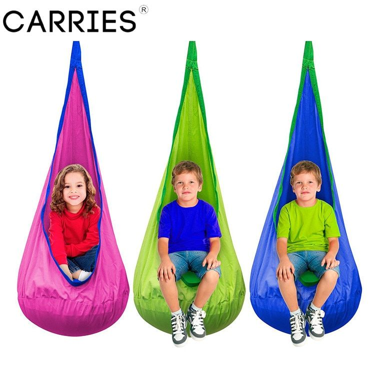 ARRIES Baby Children Indoor Pod Swing Hammock Hanging Bed Garden Furniture Kids Hanging Chair Camping