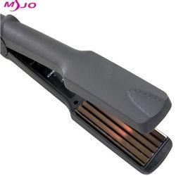 Профессиональные Электронные выпрямители для волос с контролем температуры 220-240 в щипцы для завивки волос гофрированные Инструменты для у...