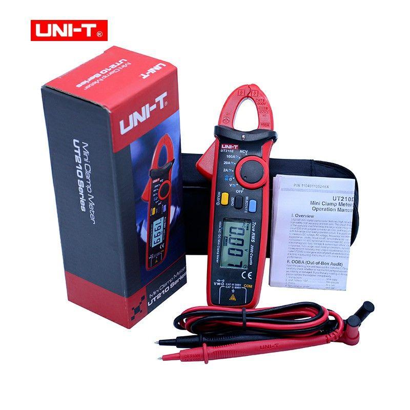 UNI-T UT210A/B/C/D/E True RMS Mini Digital Clamp Meters AC/DC Current Voltage Overload protection circuit clamp meter multimeter