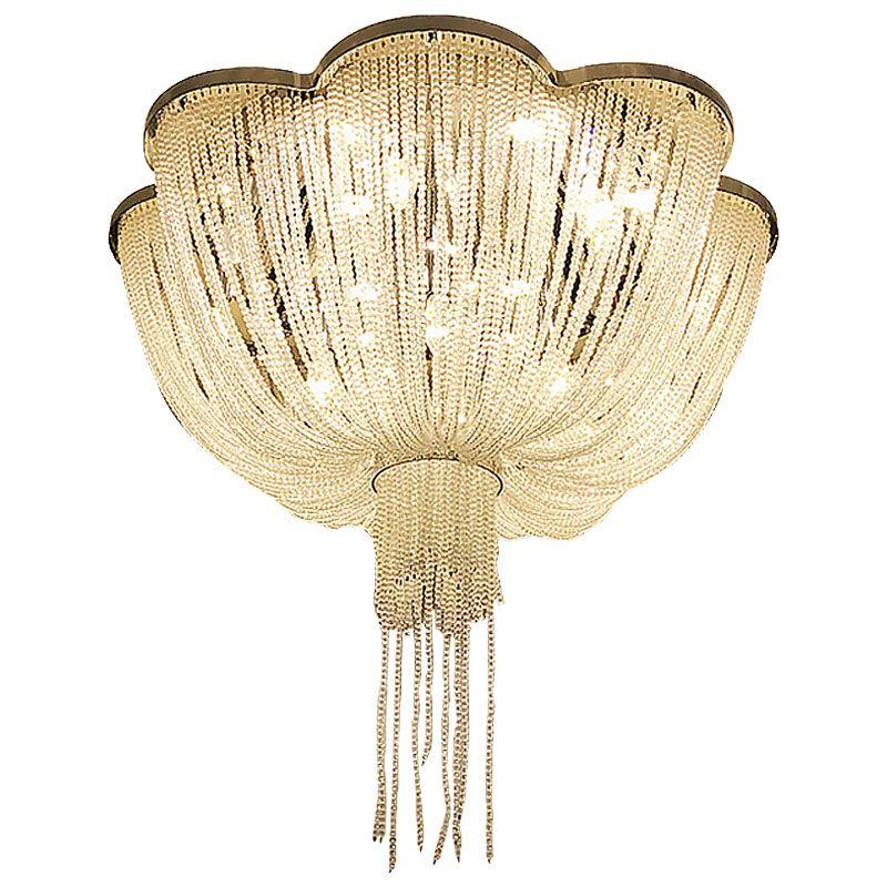Große moderne kristall kronleuchter hotel beleuchtung AC110V 220 V flush LED wohnzimmer kristall lampe wideth 100 cm