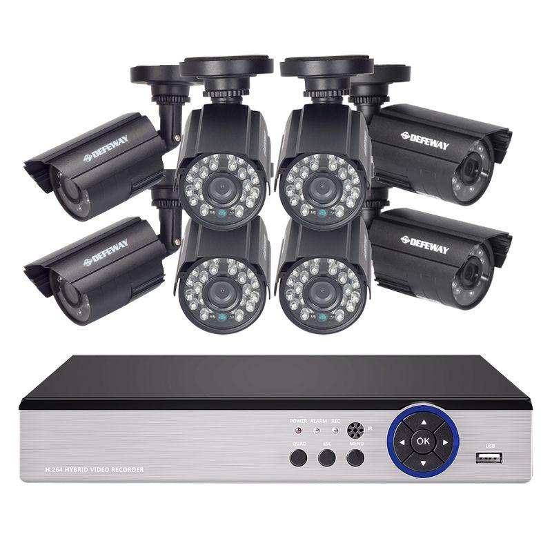 DEFEWAY 16CH 720 P 1200TVL Extérieurs pour La Maison Système de Caméra de Sécurité CCTV Vidéo Surveillance DVR Kit AHD Caméra Ensemble Avec Haute qualité
