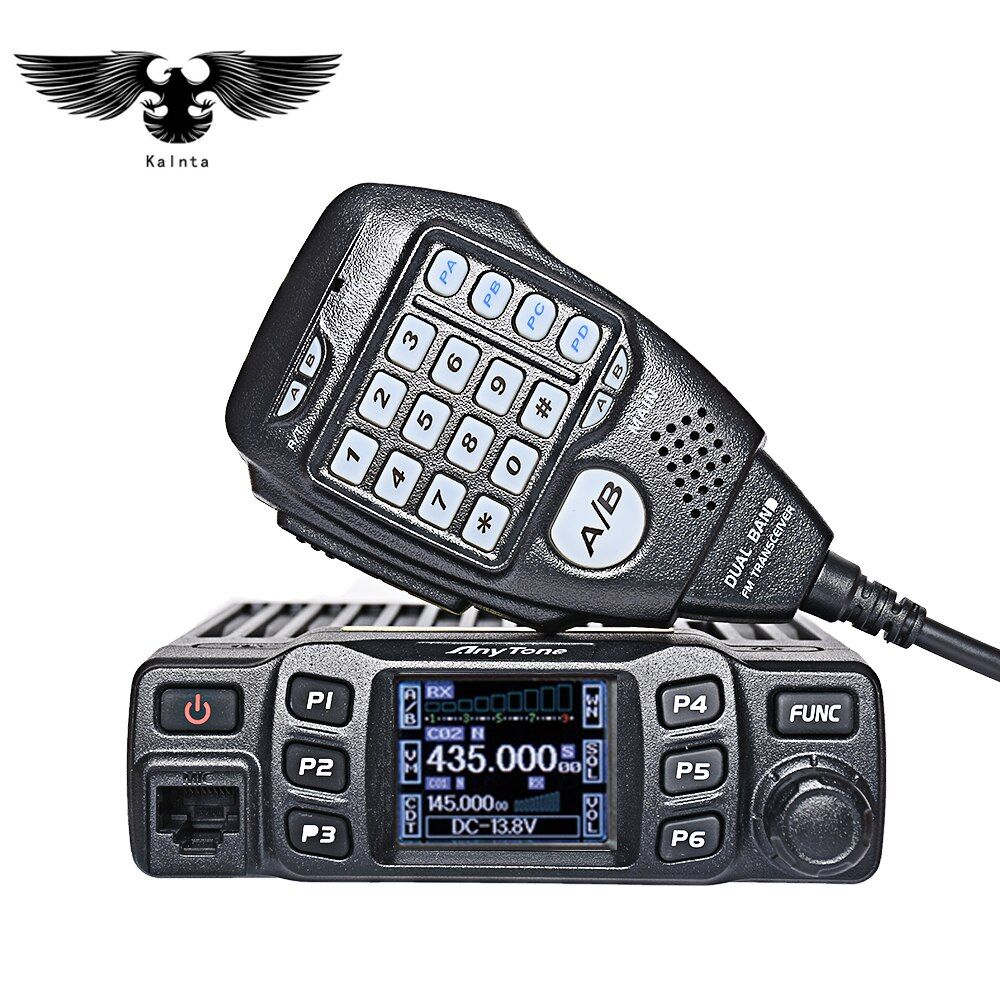 AnyTone AT-778UV Dual Band Transceiver Mobile Radio VHF/UHF Two Way and Amateur Radio Walkie talkie per camionisti Ham Radio