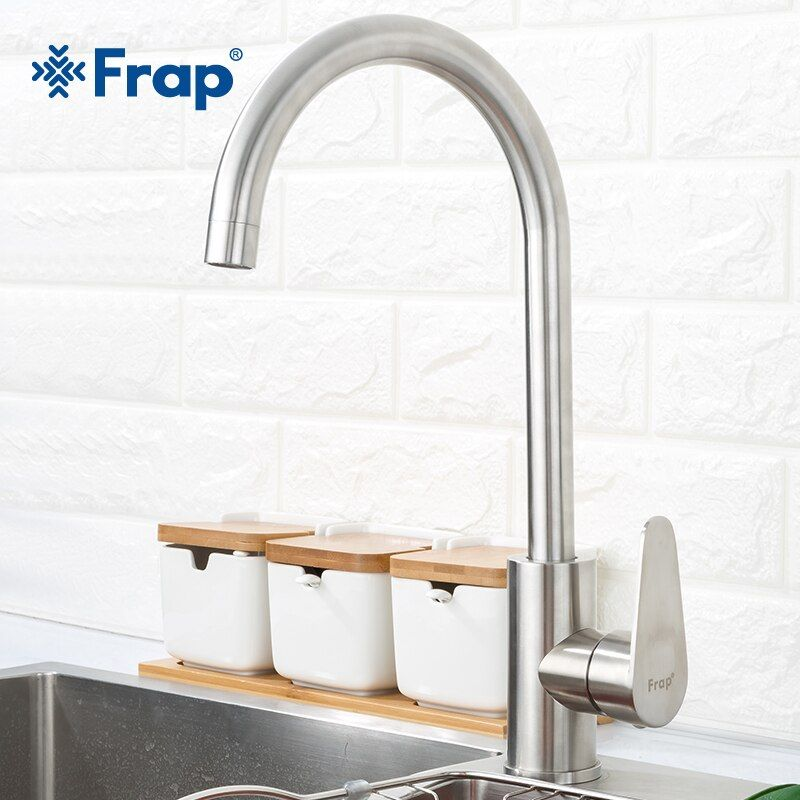 Frap 304 stainless steel Single Handle Single Hole Kitchen Faucet Mixers Sink Tap Kitchen Faucet Modern Hot and Cold Water F4048