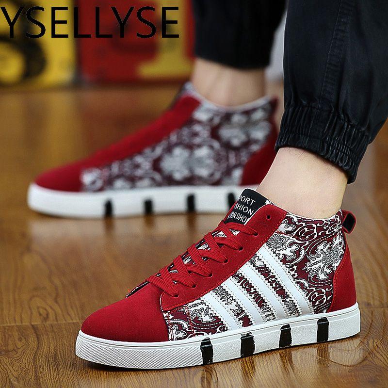 Black White Mens Shoes Flats Shoes Breathable Zapatillas Hombre High Top Canvas Casual Shoes Men Red 2017 Hot Sale