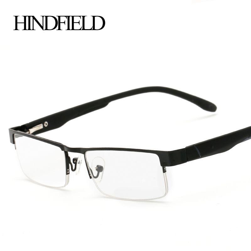 HINDFIELD 2016 lunettes de lecture en alliage demi femmes hommes lentilles de Prescription + 100, + 200, + 300, + 400 CJ131