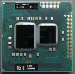 Intel Core I7 640 M 2.8 GHz 2-Core 4 M Processeur Socket G1 Portable CPU Slbtn