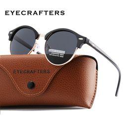Nueva polarizado ronda Gafas de Sol para mujer para hombre marca diseñador Club ronda Gafas clásico Sol Gafas conducción semi rimless gafas