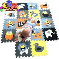 Meiqicool Bayi Pendidikan Bermain Mat Puzzle Tikar Tidak Beracun Lingkungan Merangkak Mat Kids Gym Busa Playmat Anak Karpet Karpet ubin