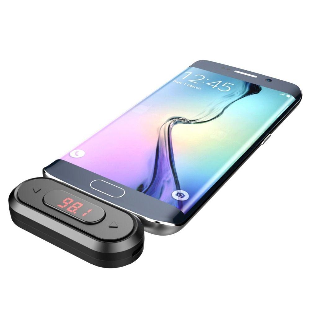 Doosl FM transmetteur mains libres appelant sans fil Audio Radio émetteur adaptateur 3.5mm prise pour iPhone IOS Android voiture fer de lance