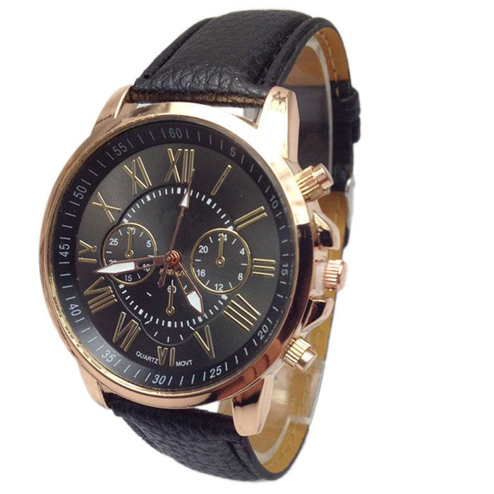 Novel design New Luxury Fashion Faux Leather Men Blue Ray Glass Quartz Analog Watches Casual Cool Watch Brand Men Watches