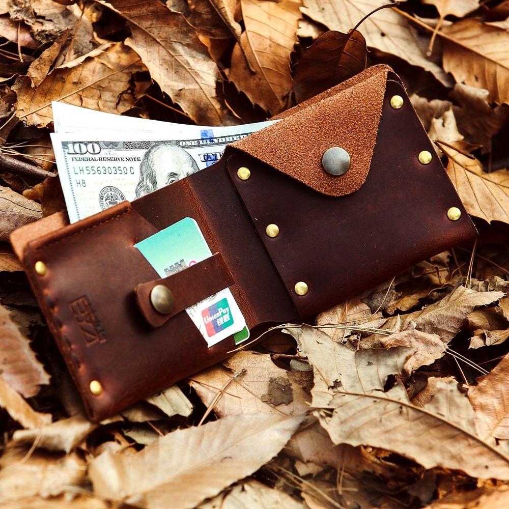 Gathersun Brand 2017 New Arrival Original Design Handmade Genuine Leather Casual Short Wallet Cow Leather Retro Purse For Men